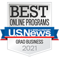 U.S. News & World Report -  Best Online Graduate Business Programs 2021