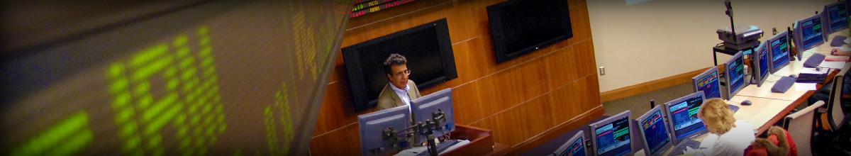 photo of a class in the the trading room