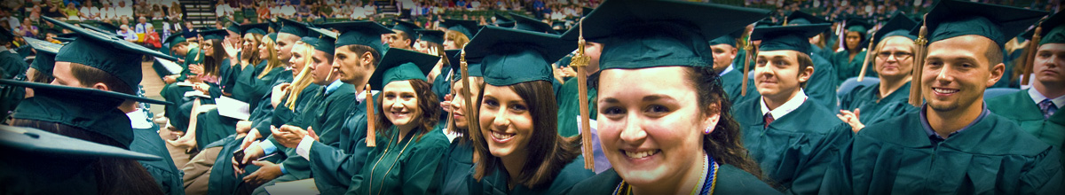 photo of business students at commencement
