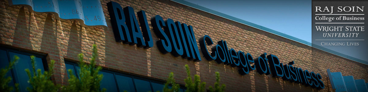 photo of raj soin college of business signage