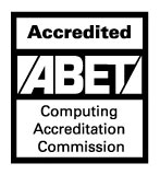 Accredited ABET logo